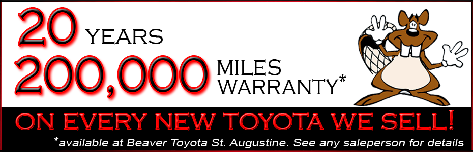 Beaver Toyota 20 Year Warranty