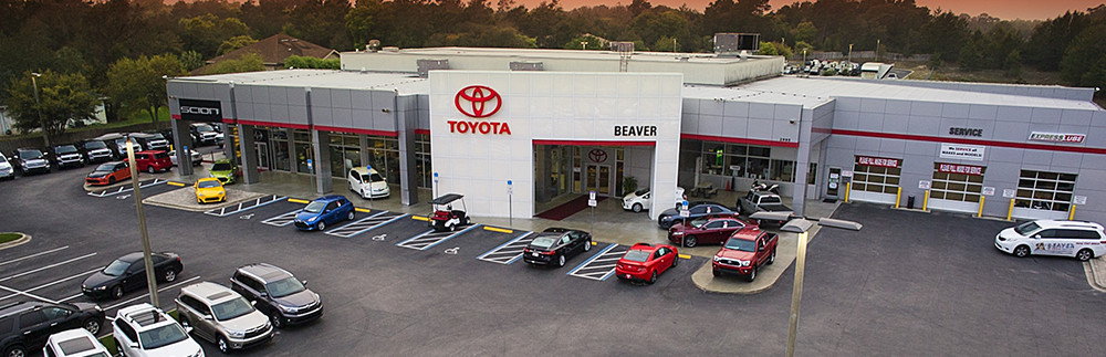 Arial View Of Beaver Toyota