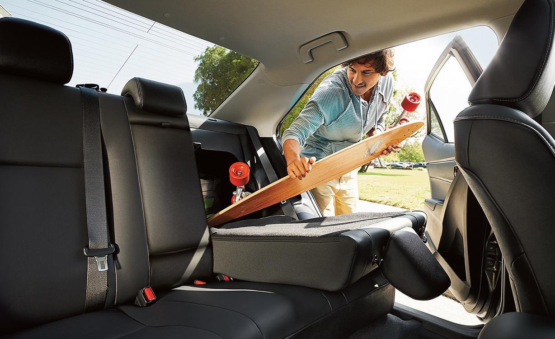 2016 Toyota Corolla rear fold down seat