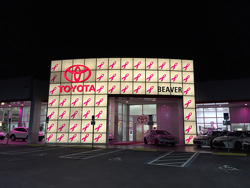 Beaver Toyota Goes Pink