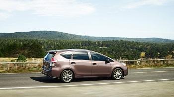 2016 Toyota Prius v Brown Profile