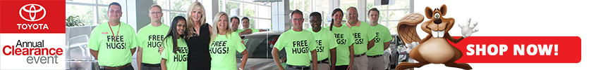 Annual Clearance Event and Free Hugs at Beaver Toyota