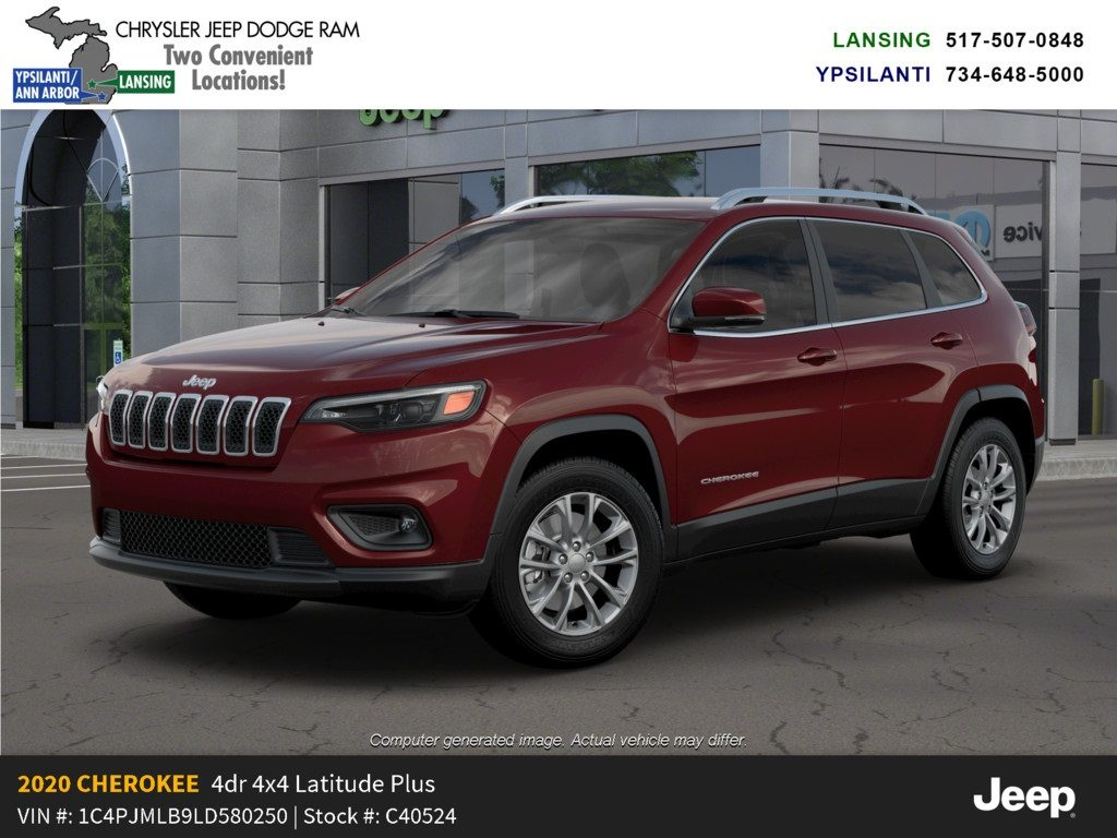 2020 Jeep Cherokee Latitude Plus 4x4 Lease Offer In Lansing