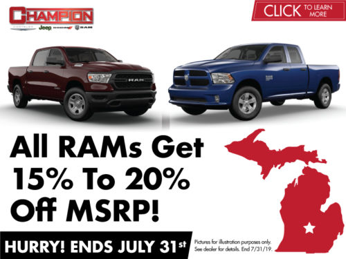 15% To 20% Off MSRP On The All New RAM 1500
