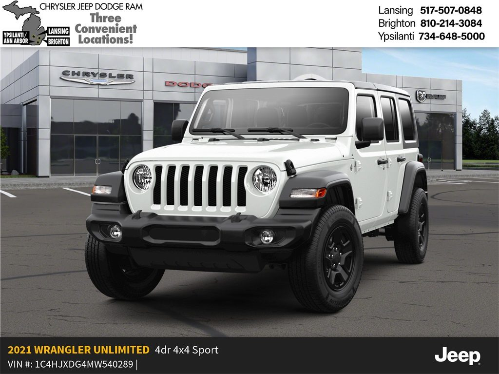 2021 Jeep Wrangler Unlimited Sport S 4x4 Lease Offer In Lansing