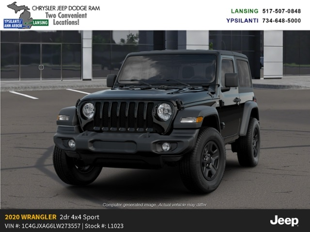 2020 Jeep Wrangler Sport 4x4 Lease Offer In Lansing