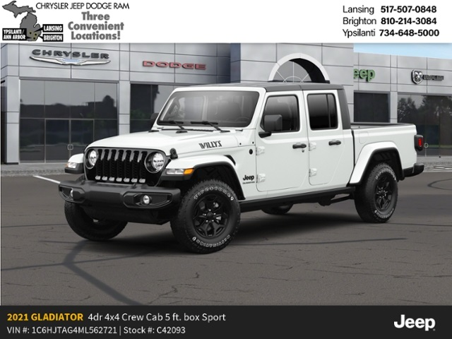 2021 Jeep Gladiator Sport Willys Lease Offer