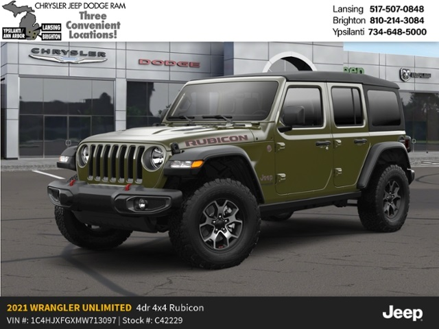 2021 Jeep Wrangler Unlimited Rubicon Lease Offer