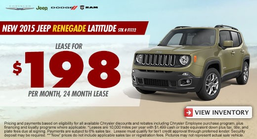 jeep renegade latitude promo