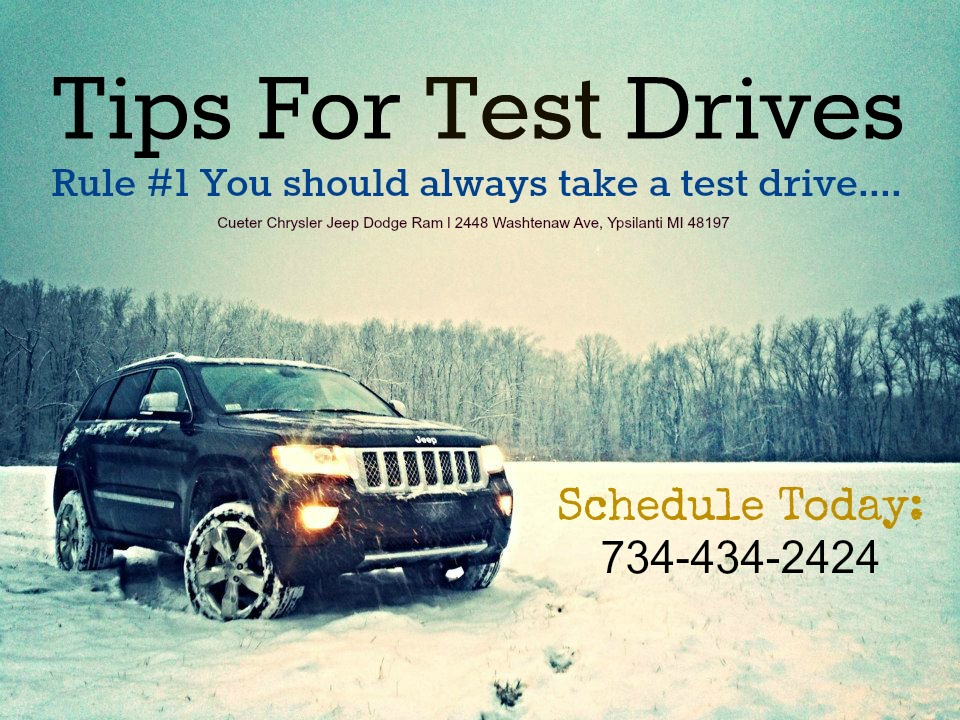 TIPS FOR TEST DRIVING