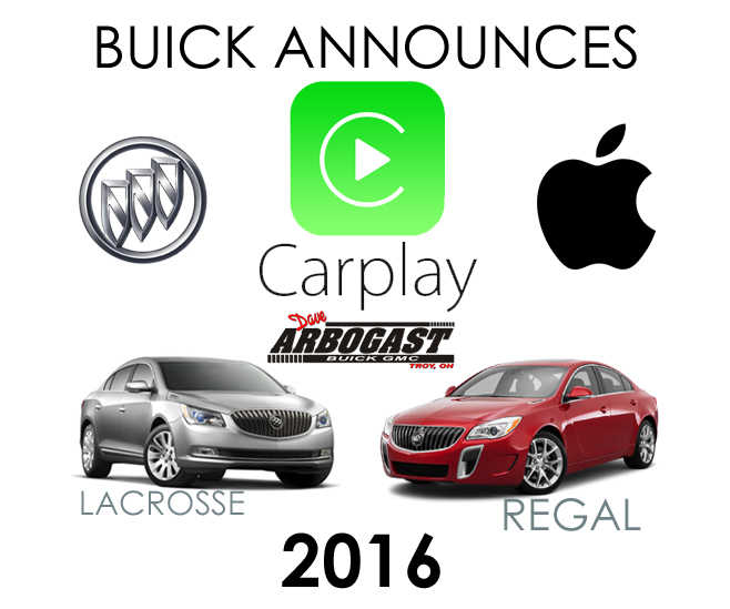 Apple CarPlay Technology Announced for Two Buick Models | Dave Arbogast