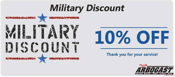 10 percent military discount | Dave Arbogast Buick GMC