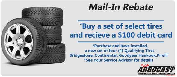$100 Tire Mail in Rebate | Dave Arbogast Buick GMC