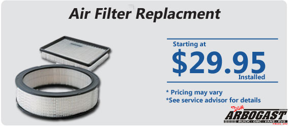 Air Filter Coupon | Dave Arbogast Buick GMC