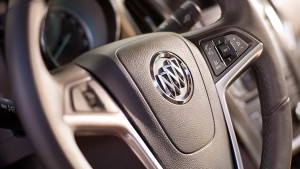 2016 Buick Verano Steering wheel closeup
