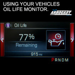 Using your vehicles oil life monitor