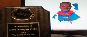 2012 Van Dealer Of the Year