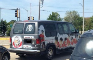 chicago black hawks conversion van