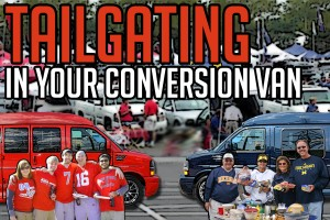 conversion van tailgating