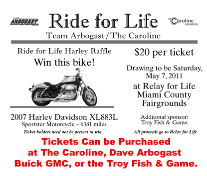 ride for life ticket