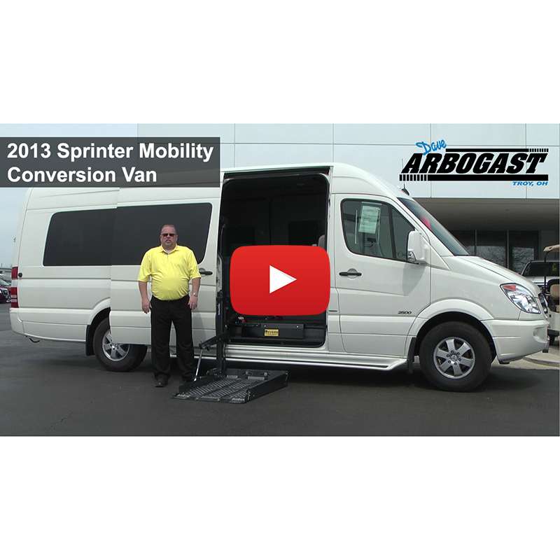 2013 sprinter mobility conversion van for sale for Mercedes benz sprinter conversion van for sale