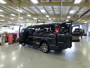 Near Final Product GMC Explorer Conversion Van