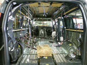 "The ""shell"" of a GMC Conversion Van"