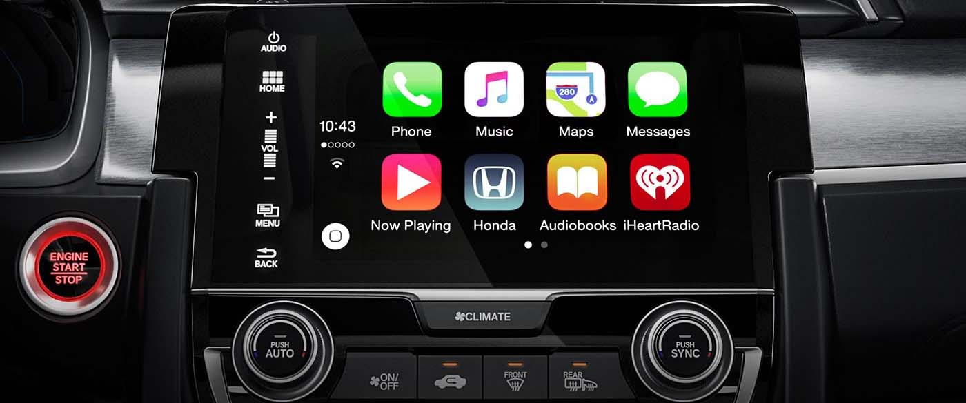 Honda Civic Hatchback Apple Carplay