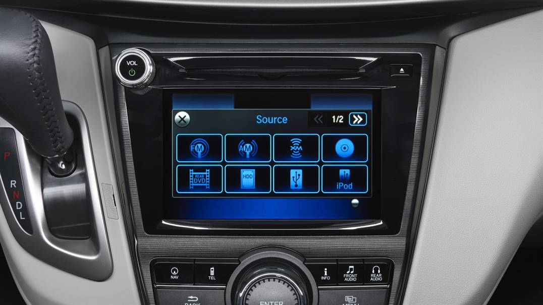Honda Odyssey Radio Options Screen