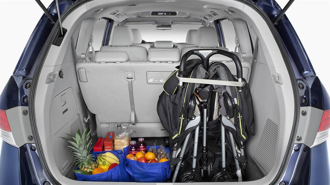 2017 Honda Odyssey standard storage behind 3rd row seat