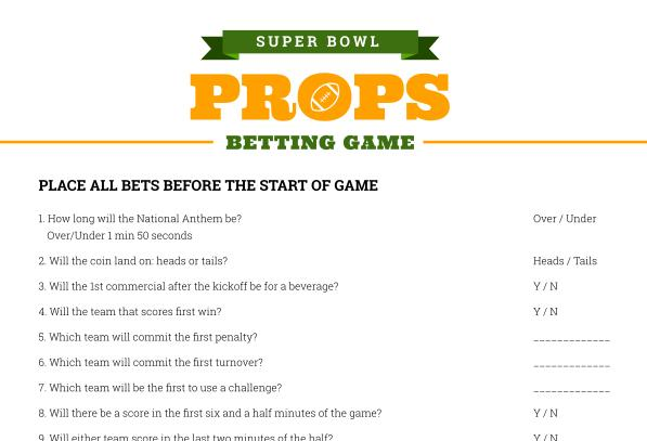graphic regarding Printable Super Bowl Prop Bets referred to as A Tremendous Bowl How-In direction of Direct - Fletcher Jones Motorcars
