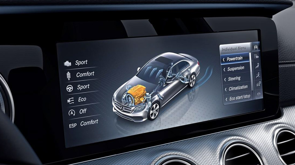 E-class display screen