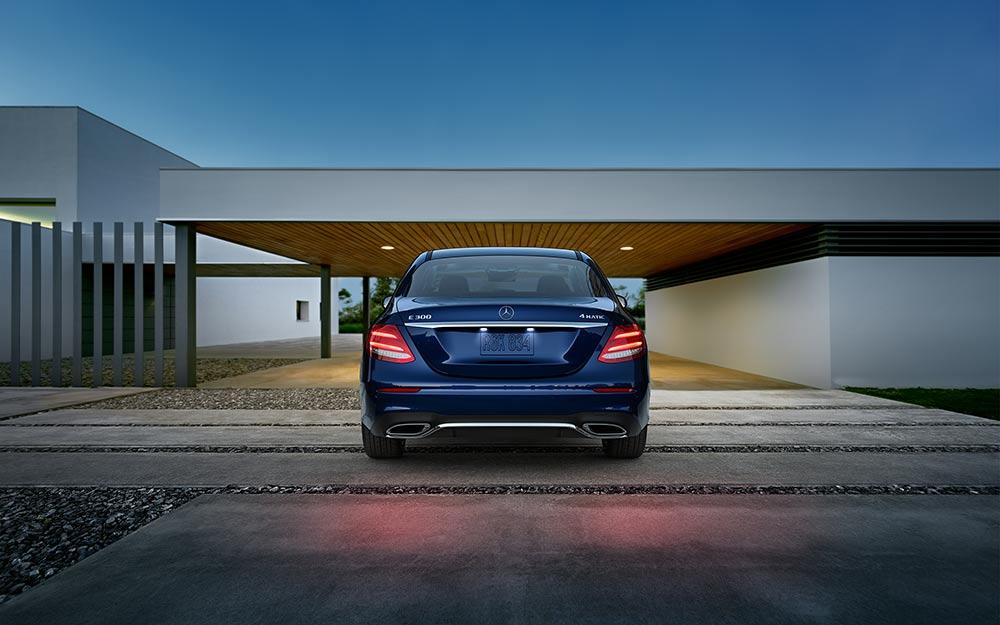 Parked Blue E 300
