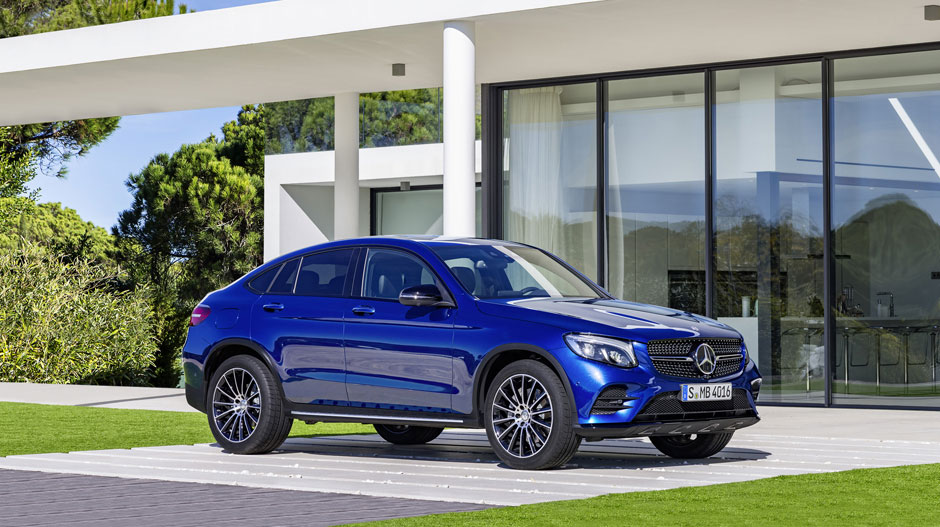 2017 GLC Coupe parked by house