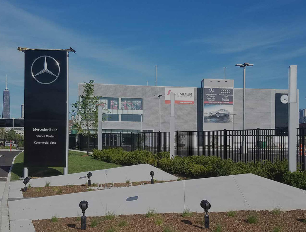 New mercedes benz work vehicles and expert service for chicago for Mercedes benz service centre
