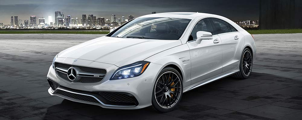 White Mercedes-AMG CLS Coupe