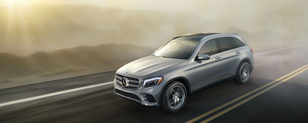 GLC SUV driving in foggy weather