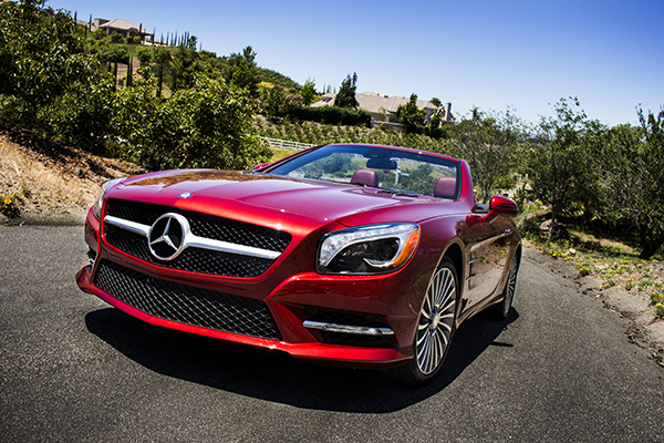 Mercedes-Benz in wine country