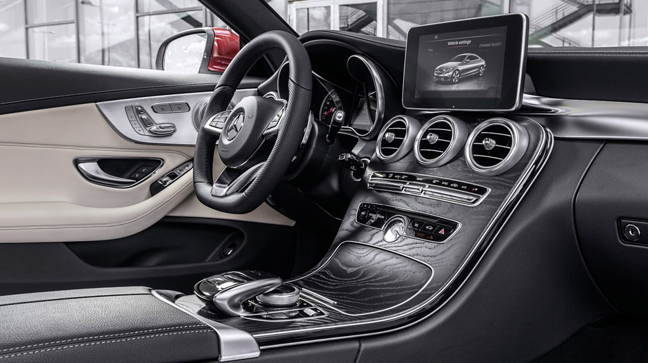 Are you ready for the 2017 mercedes benz c class coupe for Mercedes benz c300 red interior