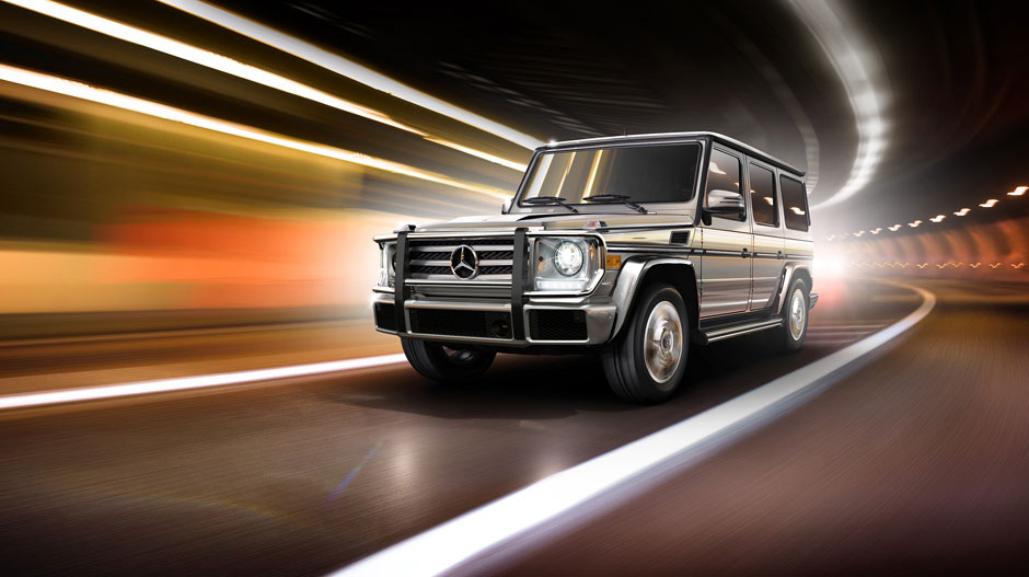 g 550 driving on street
