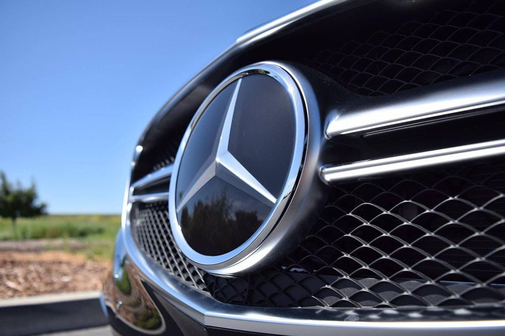 Grill of a Mercedes
