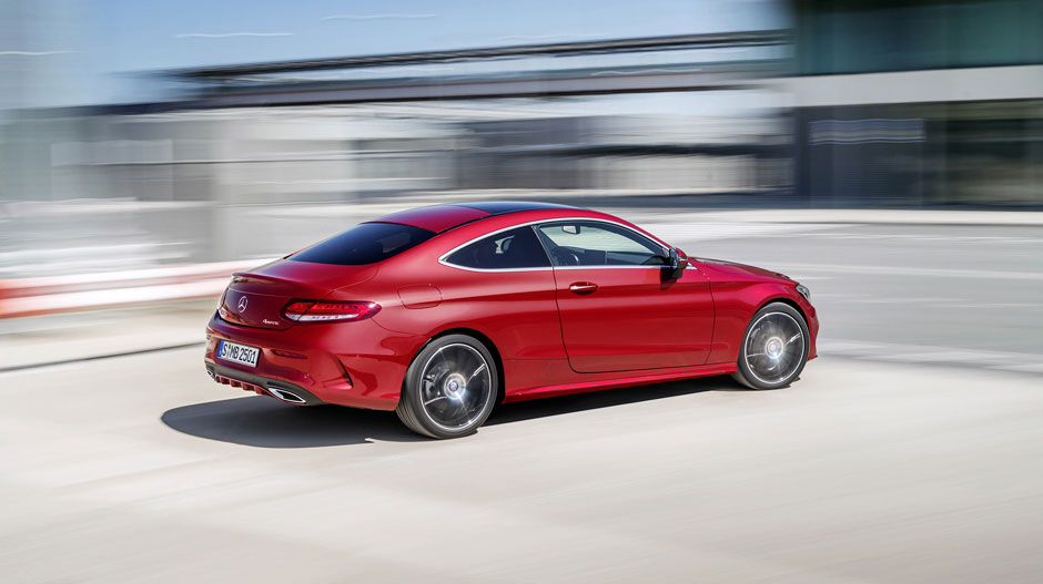 Red C-Class Coupe