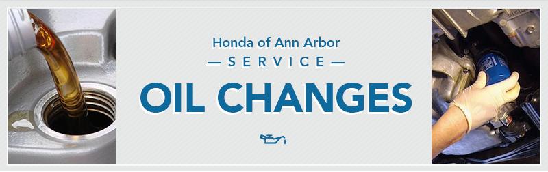 Honda Oil Change In Ann Arbor Michigan