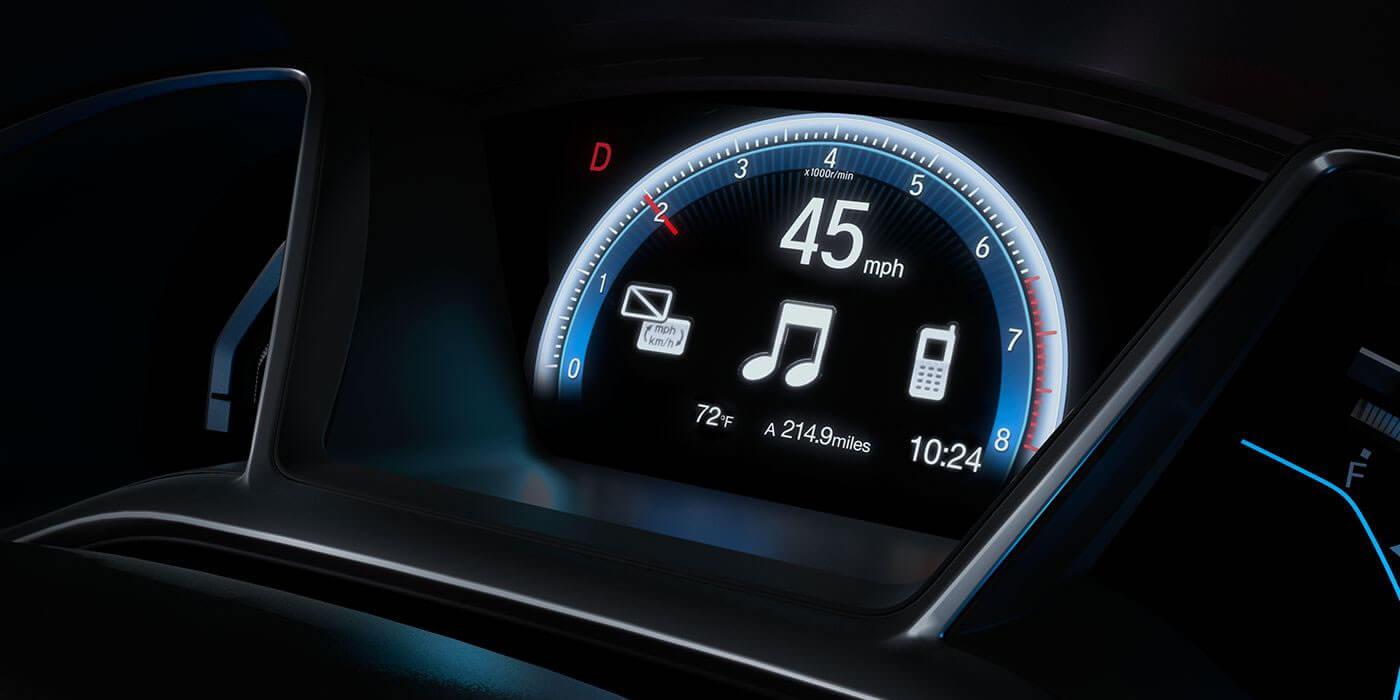 2016 Honda Civic Coupe Driver Info Display