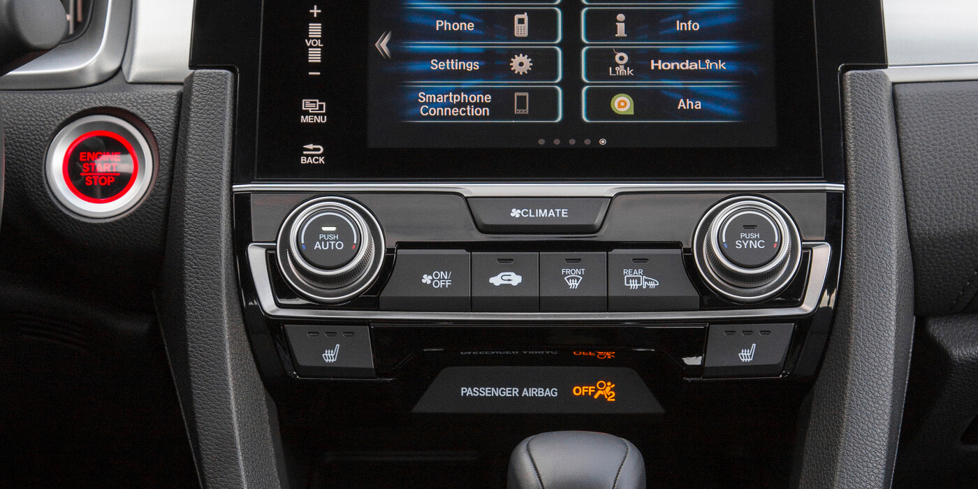 2016 Honda Civic Coupe Dual-Zone Climate Control System