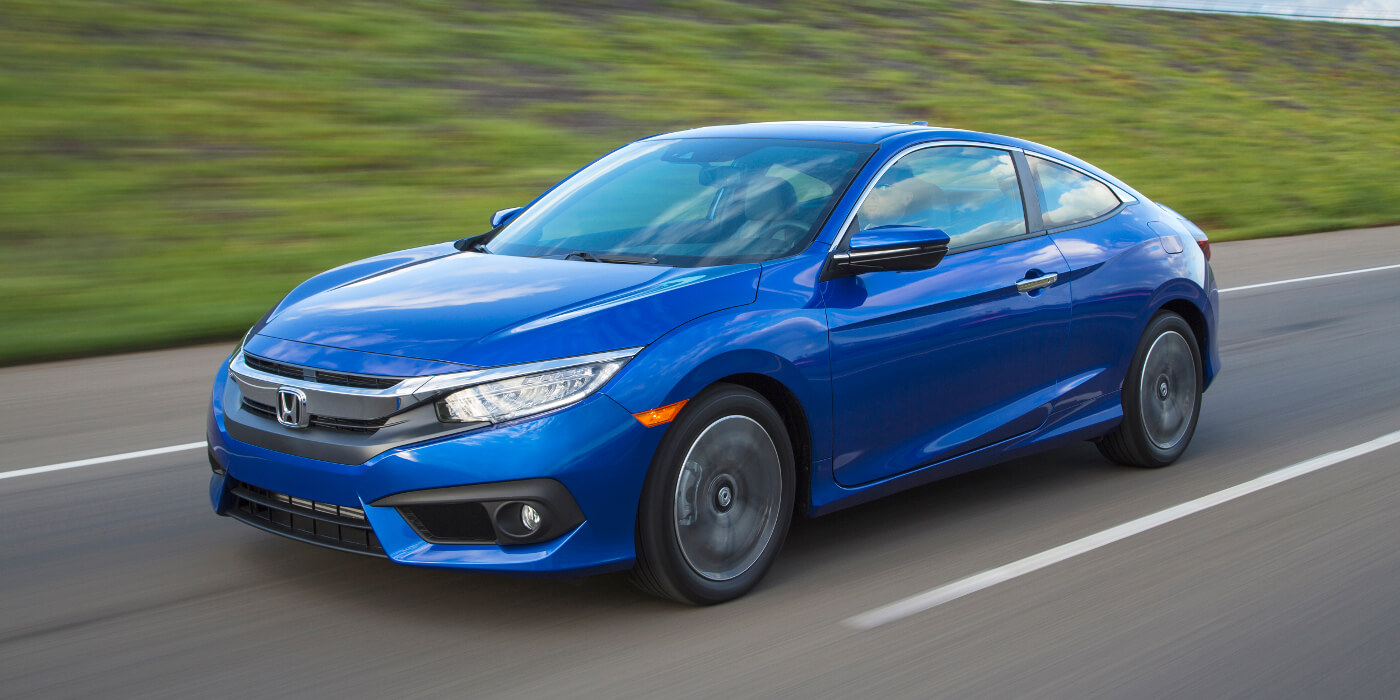 2016 Honda Civic Coupe on road