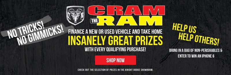 Help Those in Need By Cramming the Ram at Knight Dodge!