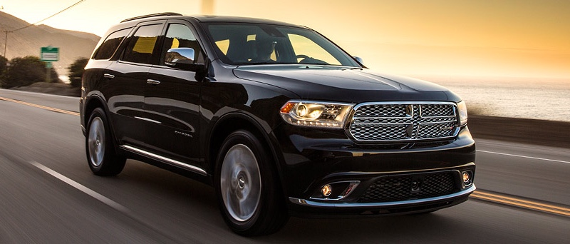 Black 2016 Dodge Durango on the road