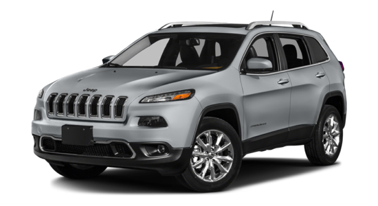 2016 Jeep Cherokee light grey exterior