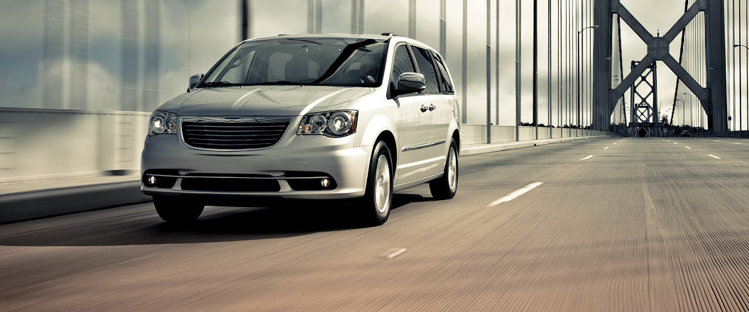 2016 Chrysler Town and Country on the road